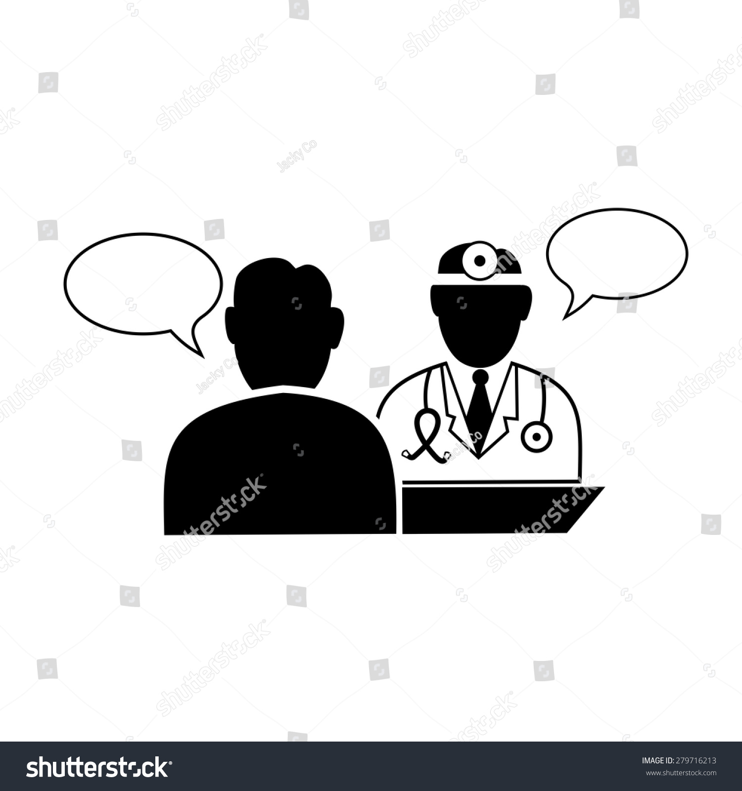 Doctor Patient Icon doctor and patient dialog icon vector. - 279716213 ...