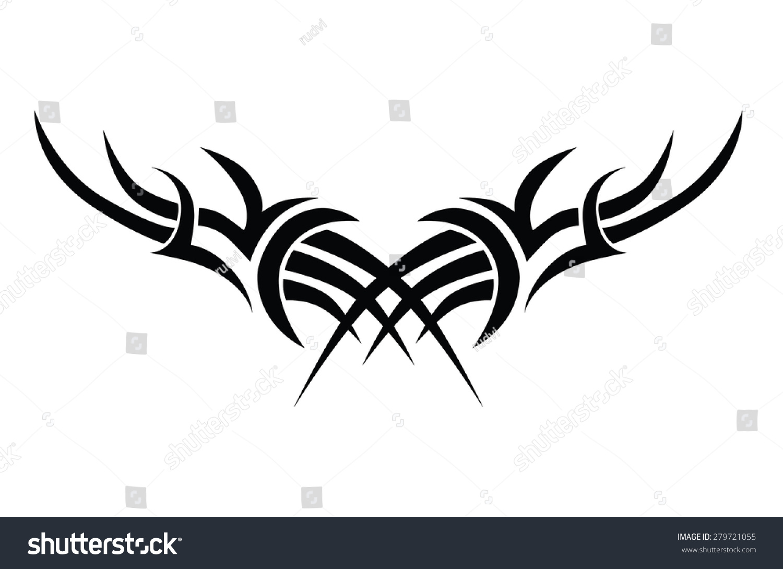 Tattoo Art Tribal Designs Vector Girl Stock Vector Royalty Free