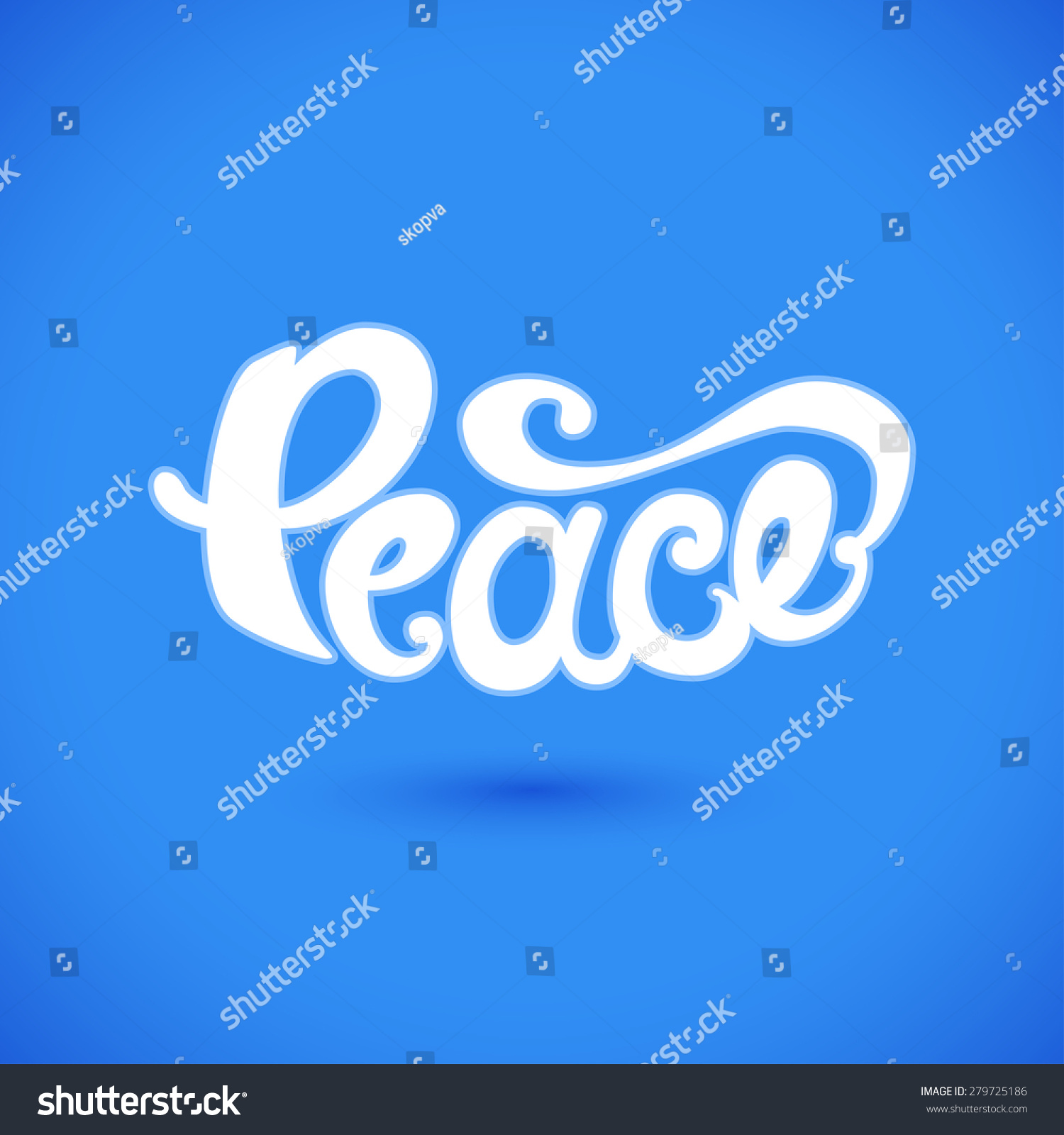 Peace hand drawn unique lettering symbol stock vector 279725186 symbol of serenity and friendship vector illustration biocorpaavc Gallery