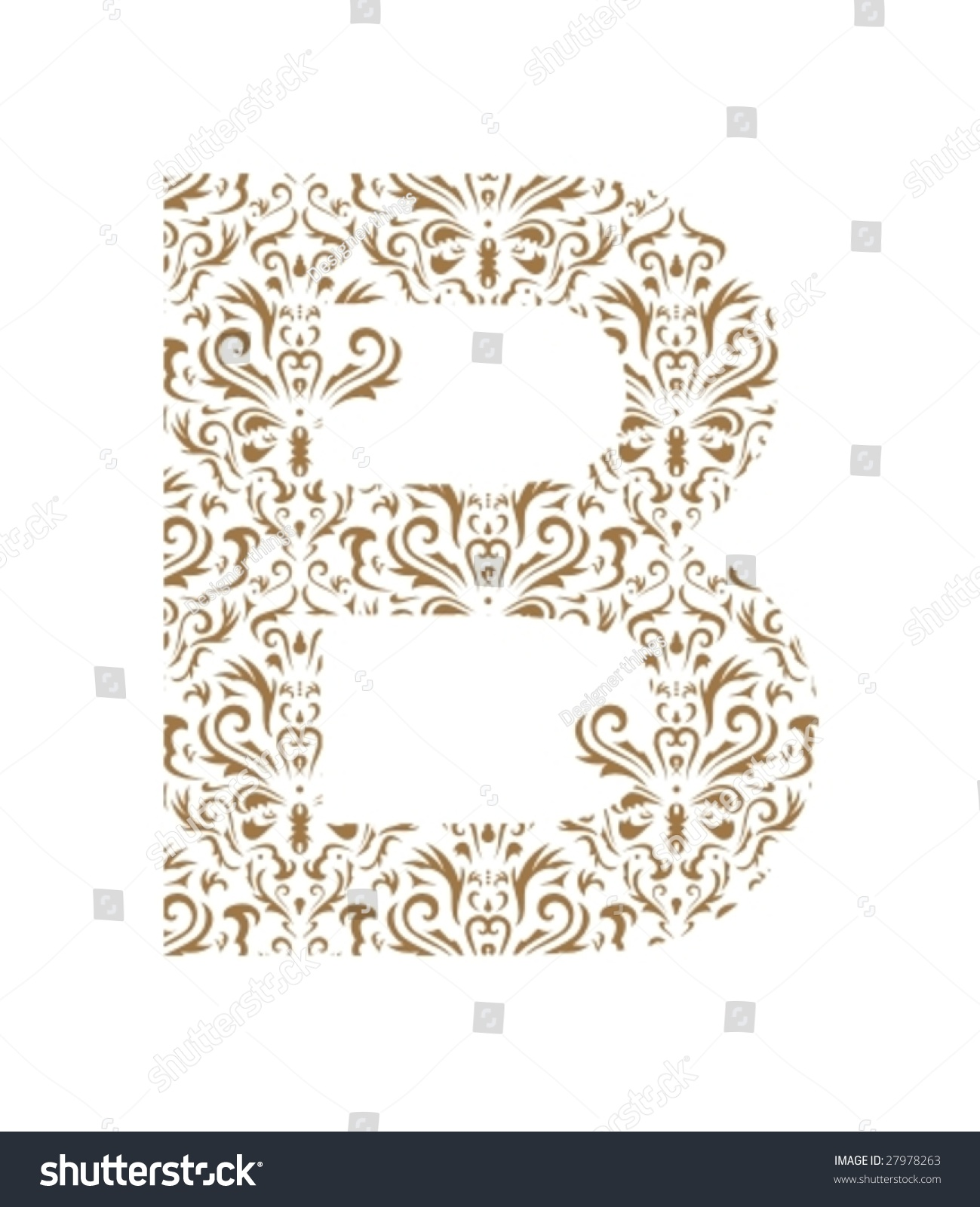 floral letter ornament font stock vector illustration 27978263 shutterstock