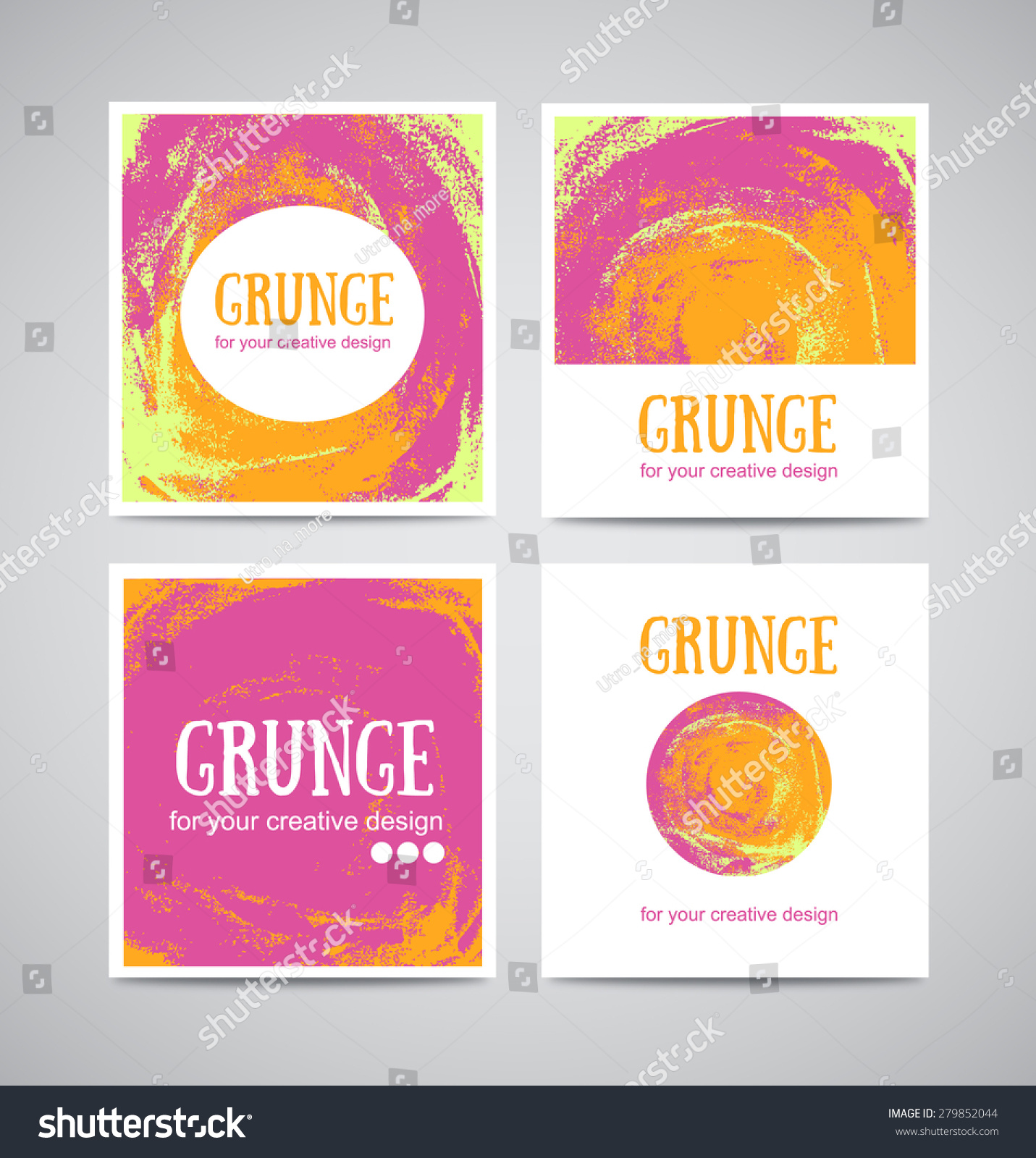 Set Watercolor Business Cards Template Banners Stock Vector ...