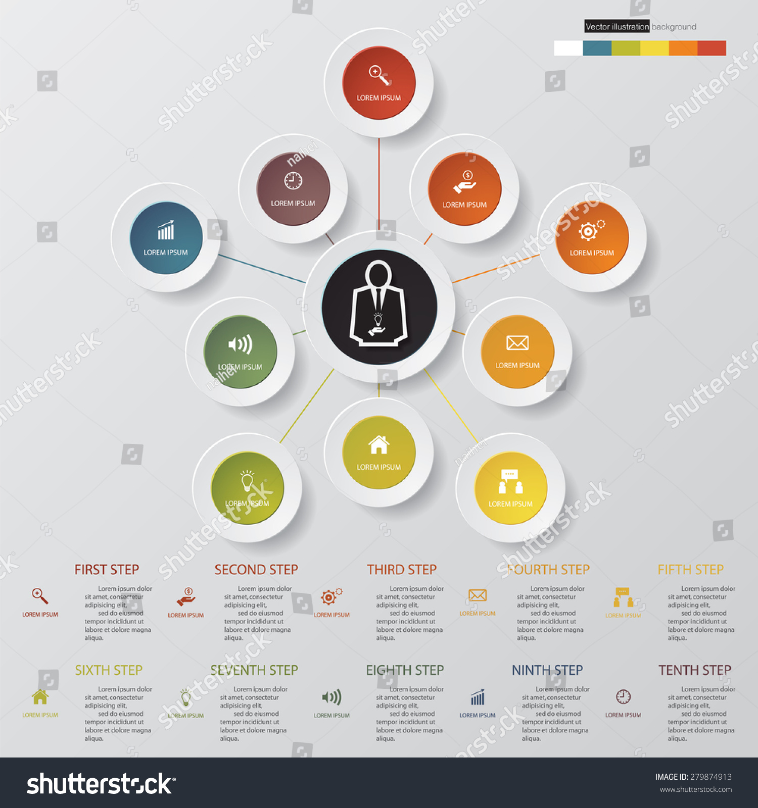Design clean templategraphic website layout 10 stock vector royalty design clean templategraphic or website layout 10 step order diagram layout ccuart Choice Image