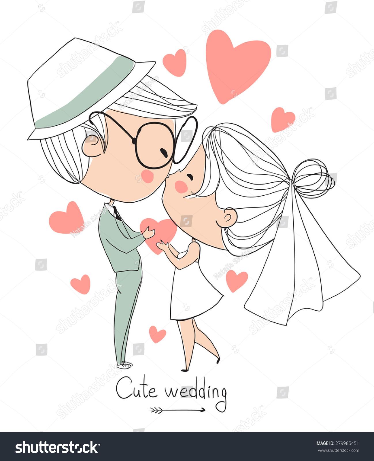 Cute Vector Wedding Card