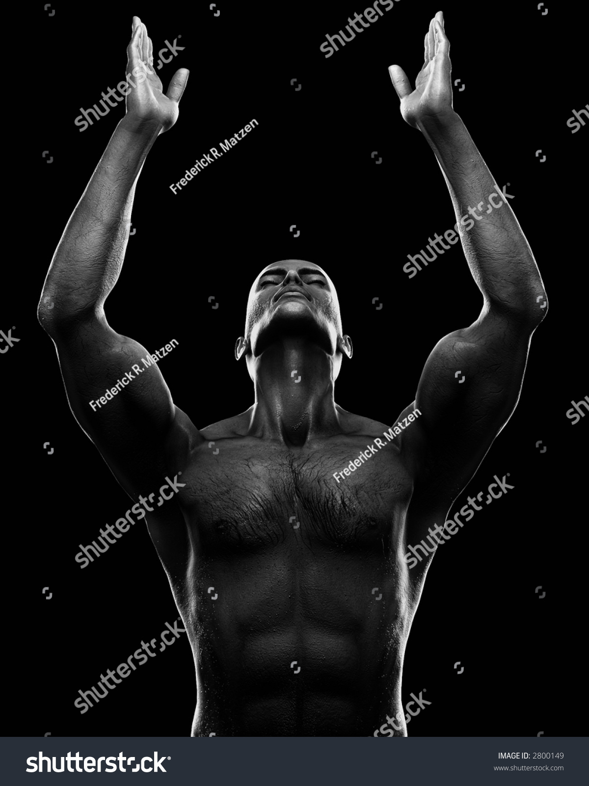 male figure arms raised teh skyのイラスト素材 2800149 shutterstock