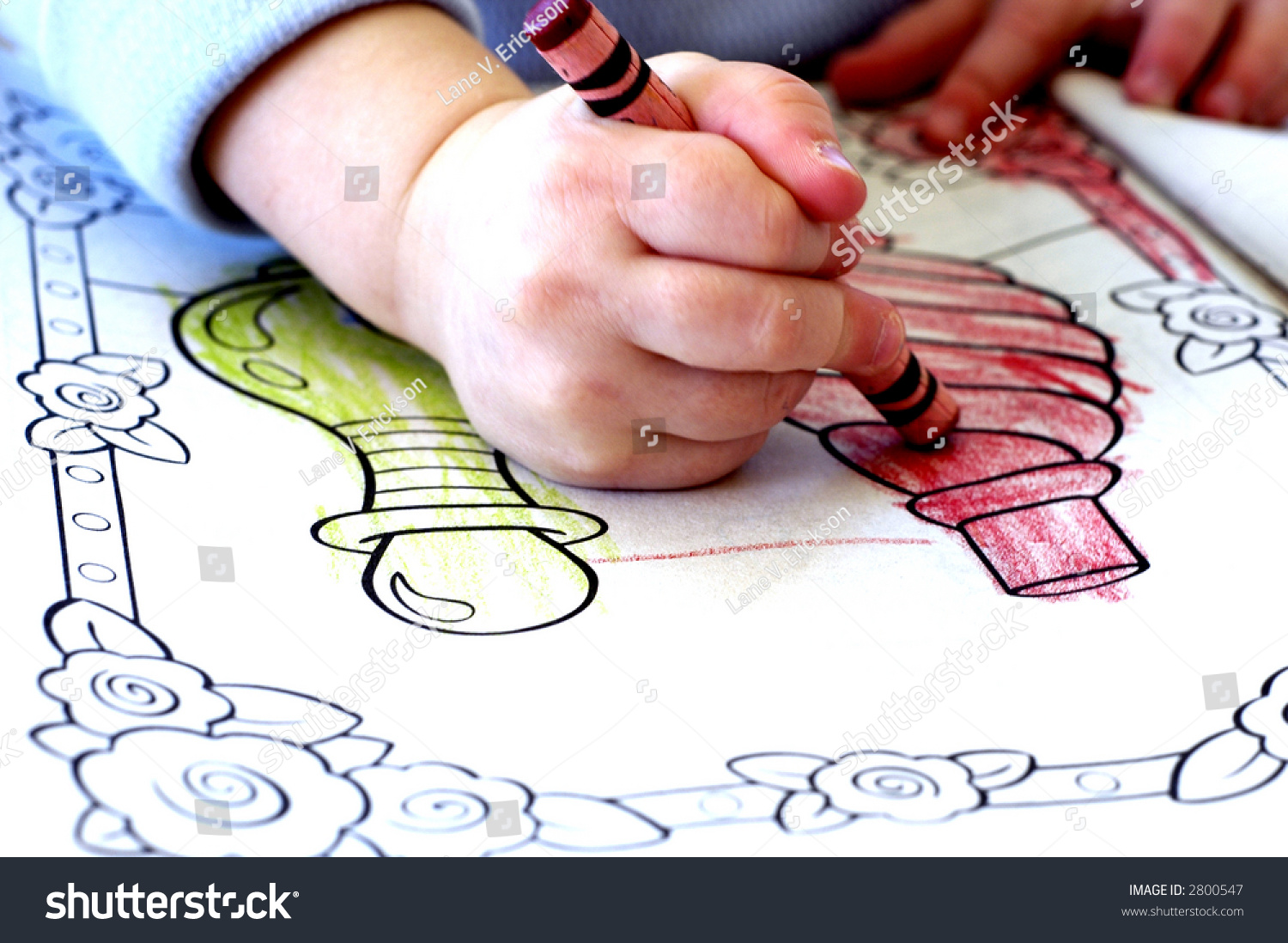 Little Child Coloring Coloring Book Crayons Stock Photo (Edit Now ...