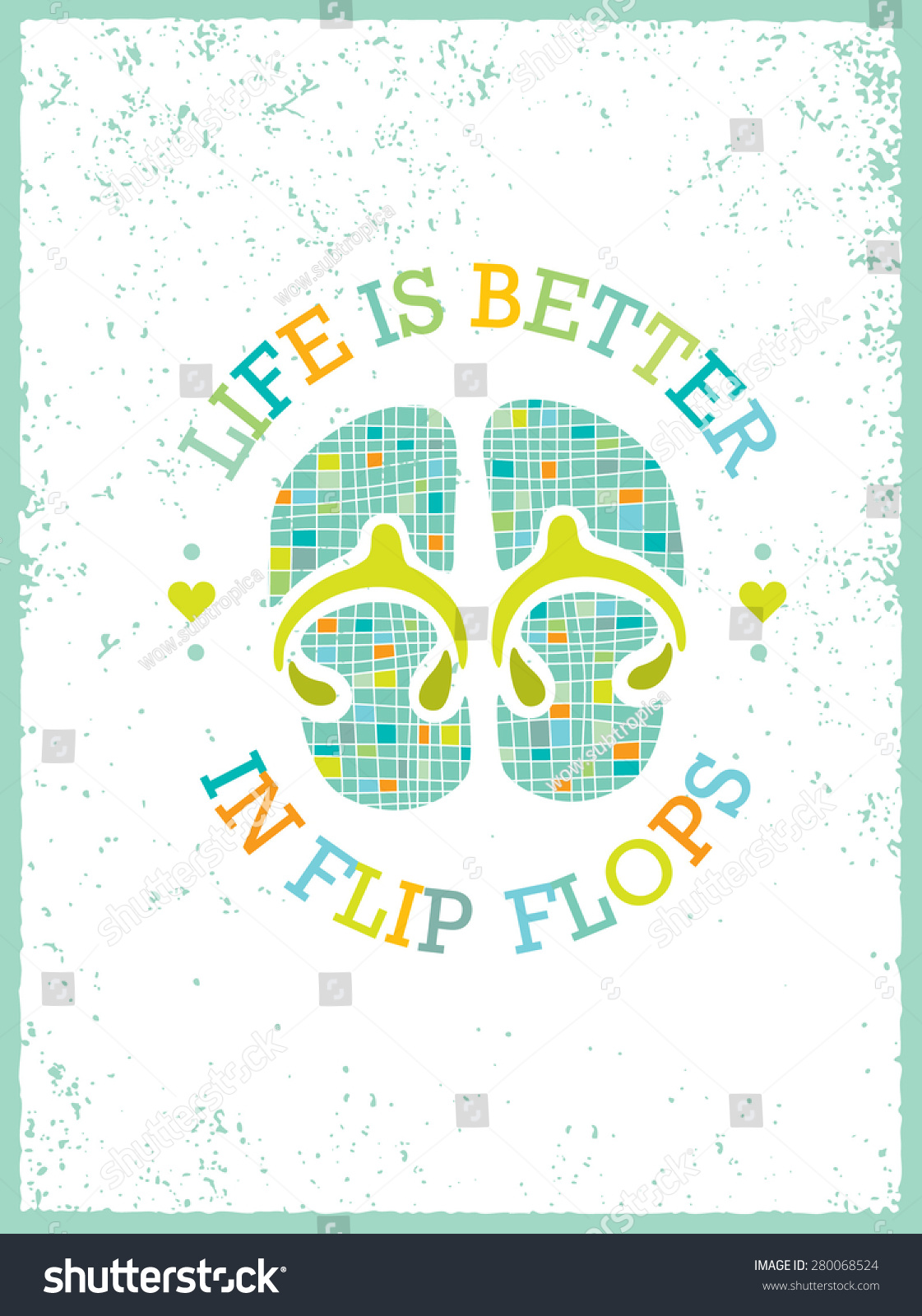 Life Better Flip Flops Quote Design Stock Vector Royalty Free