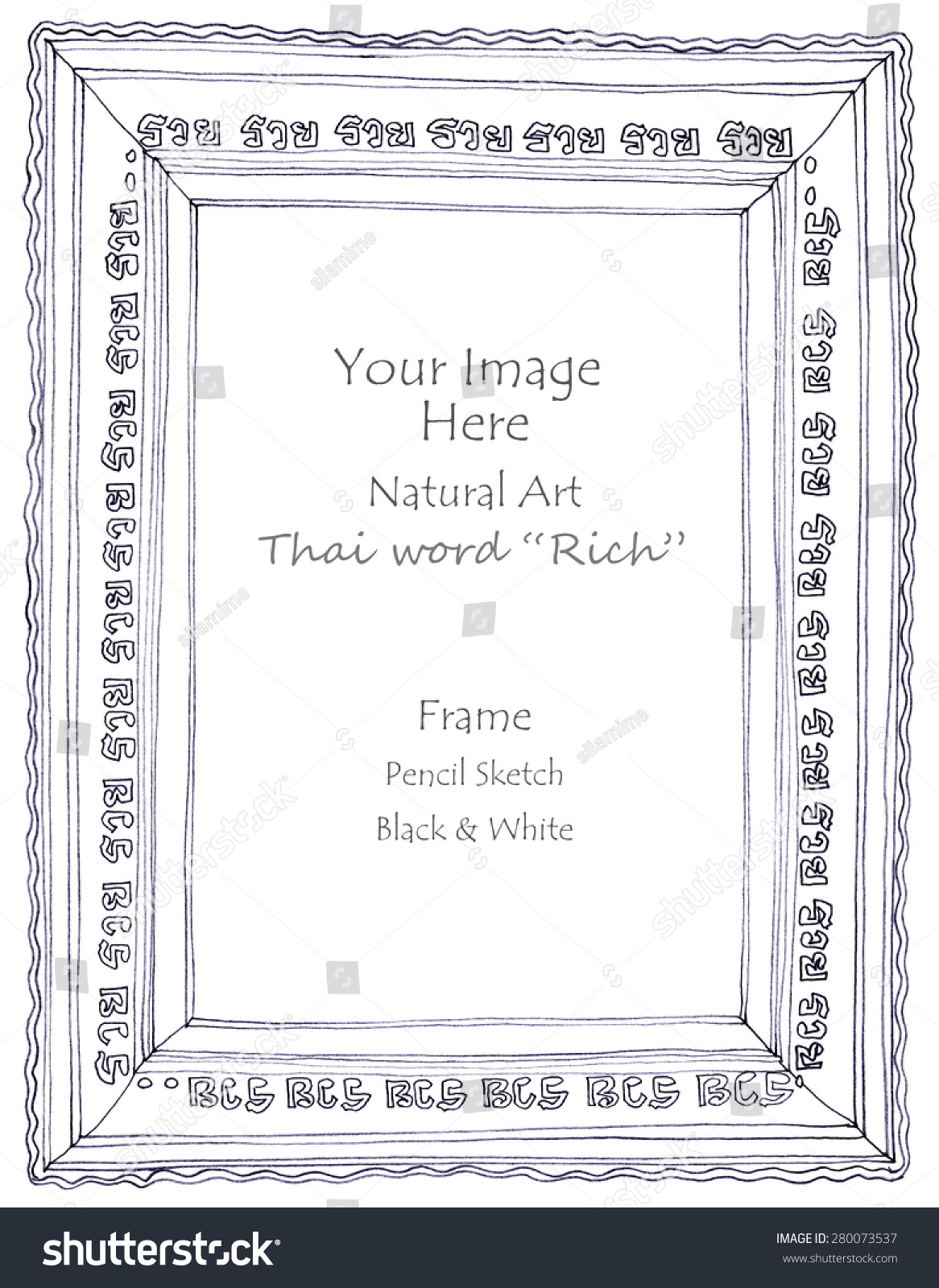 Frame Thai Word Rich Meaning Graphic Stock Illustration 280073537 ...