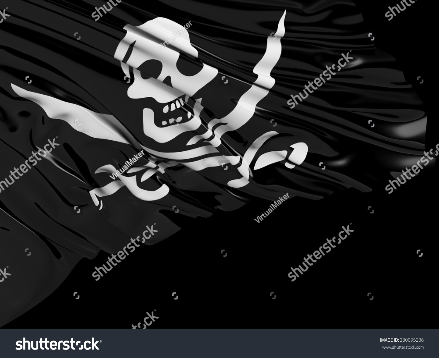 Pirate Flag Black Stock Illustration 280095236 - Shutterstock