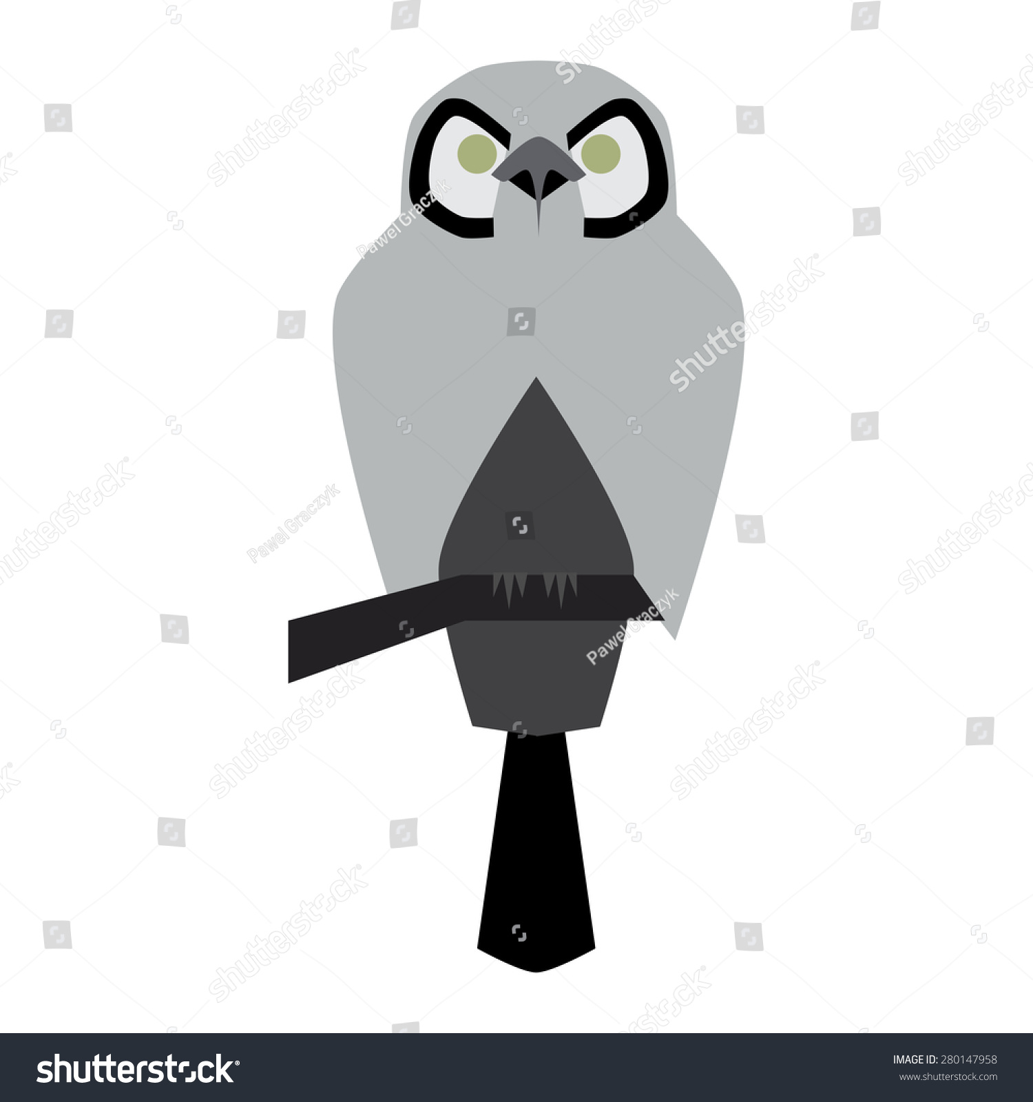 Vector Illustration Owl Icon Symbol Wisdom Stock Vector
