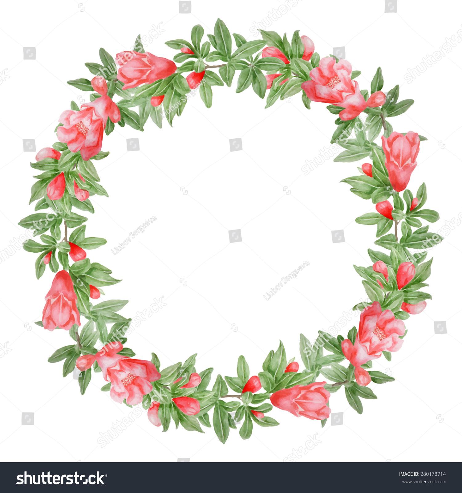Royalty-free Vector pomegranate tree flowers… #280178714 Stock Photo ...