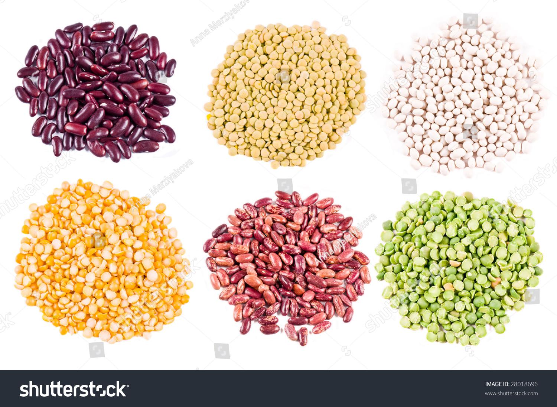 Different Types Haricot Beans Peas Lentil Stock Photo Edit Now