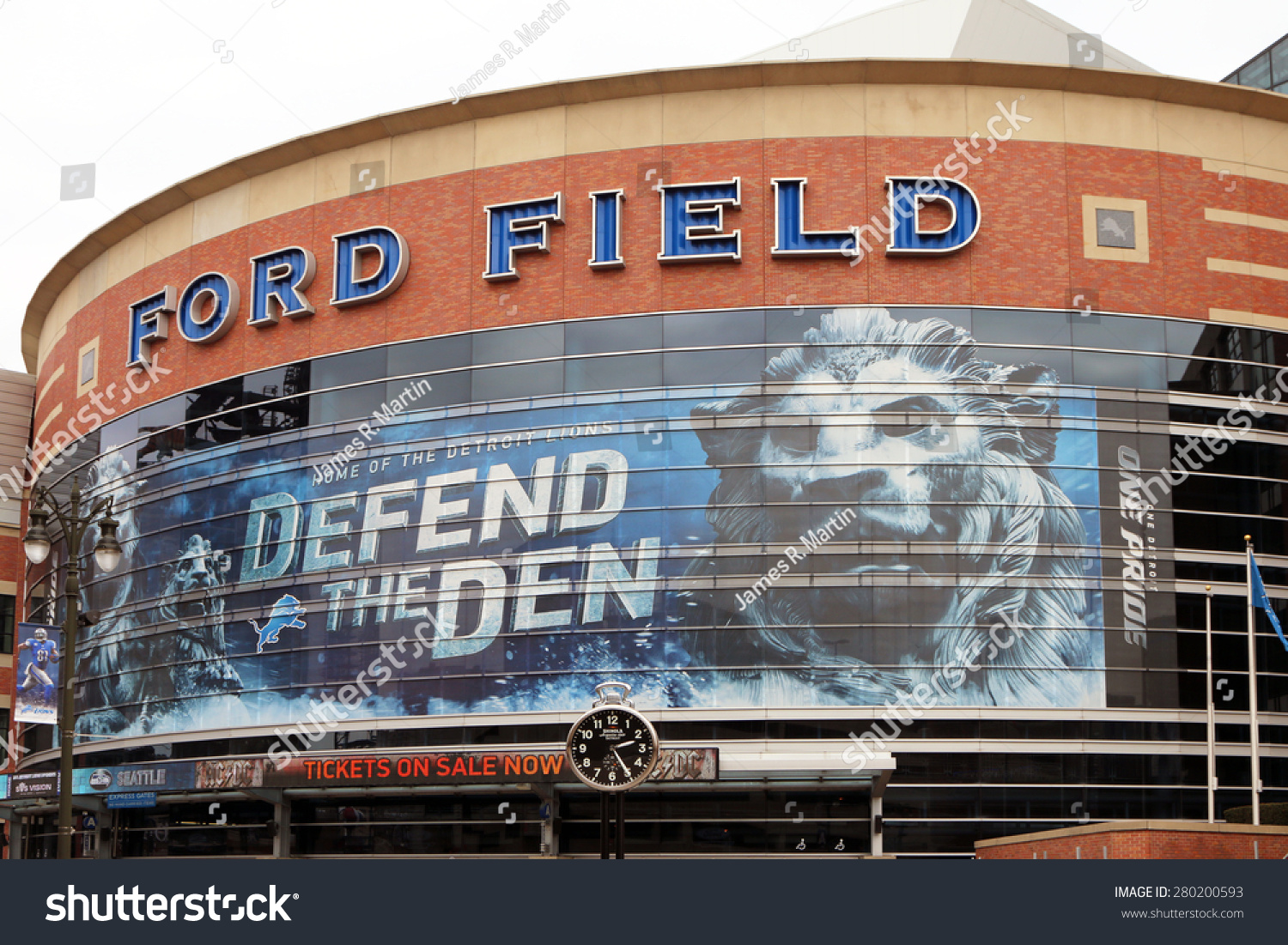 Detroit mi may 2015 exterior of ford field the home of for Ford motor company detroit mi