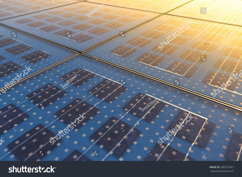 Photo Solar Panel Texture Close Stock Photo 280225367