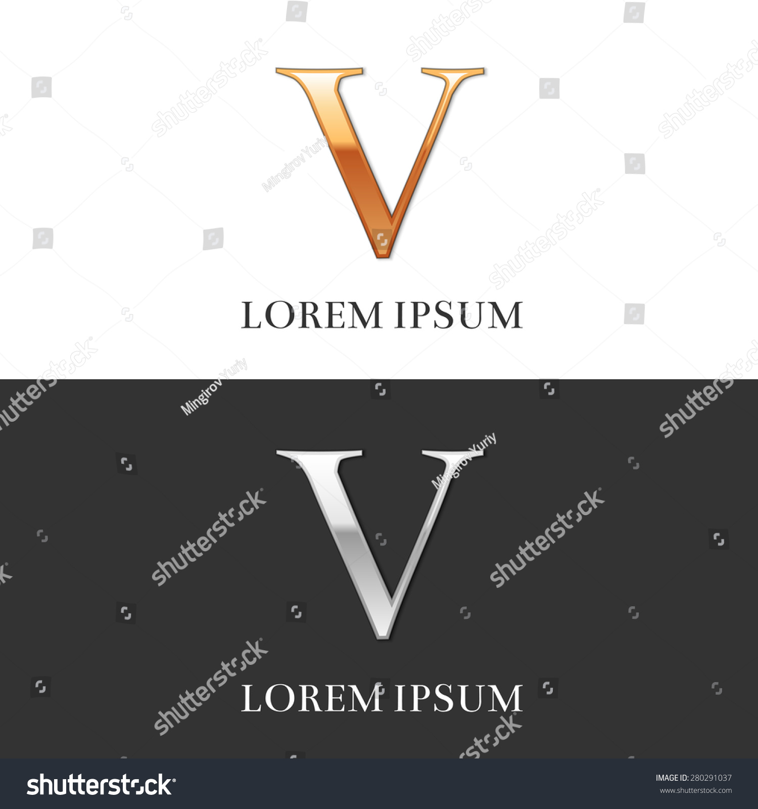 worksheet V Roman Numeral 5 v luxury gold silver roman stock vector 280291037 shutterstock and numerals sign logo symbol
