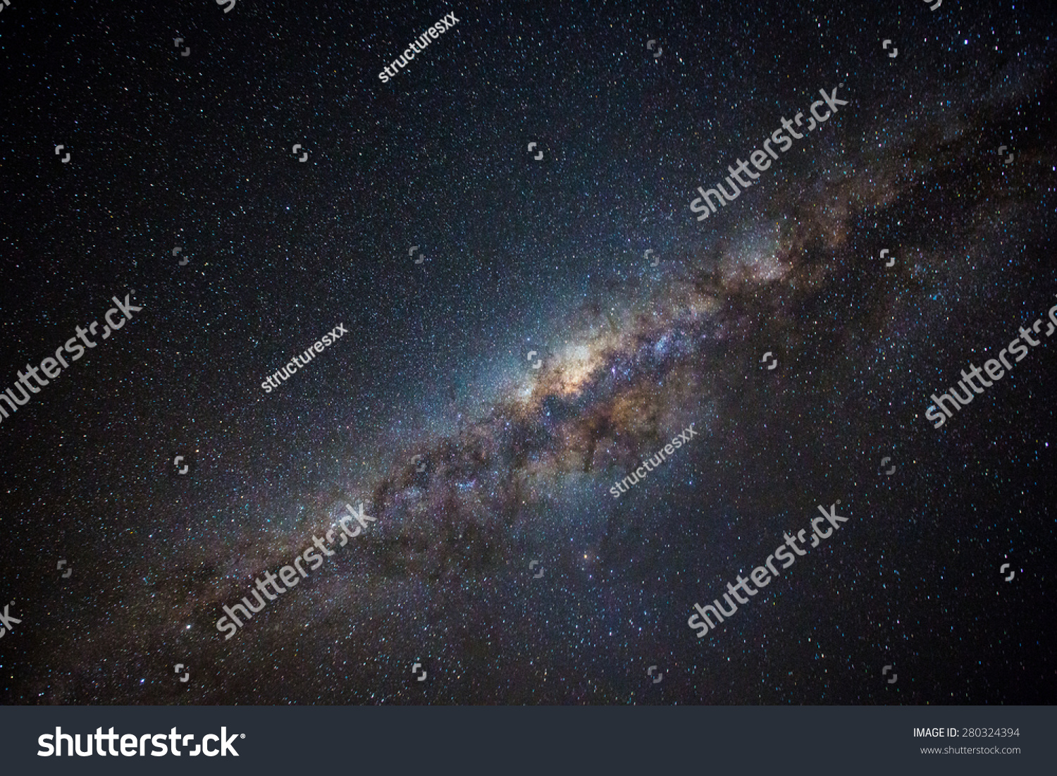 Clearly milky way found in Australia outback.  #280324394