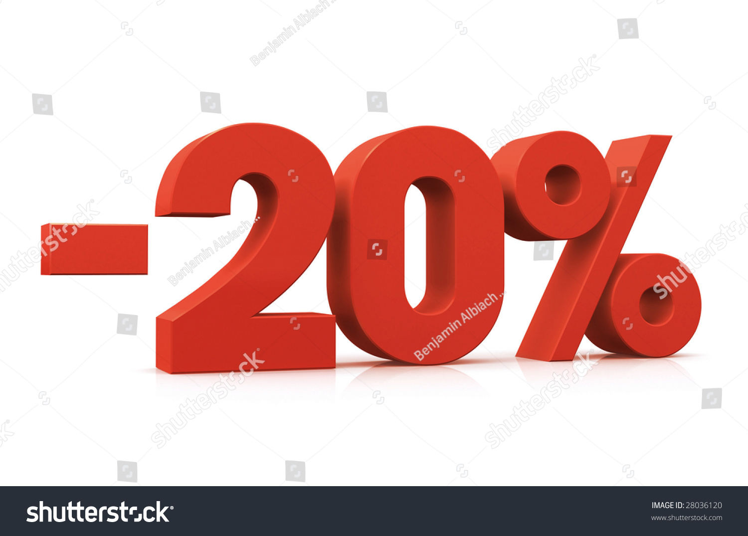 Percentage, -20% Stock Photo 28036120 : Shutterstock