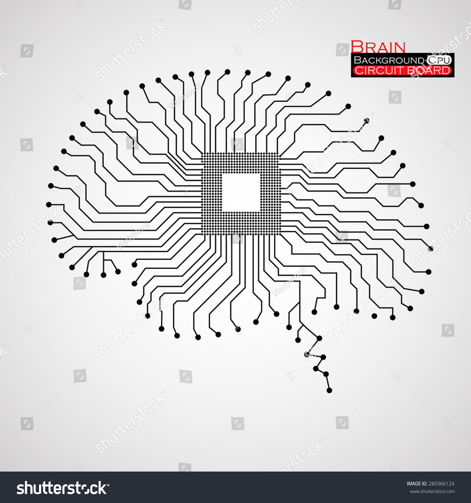 Circuit Board Vector Brain