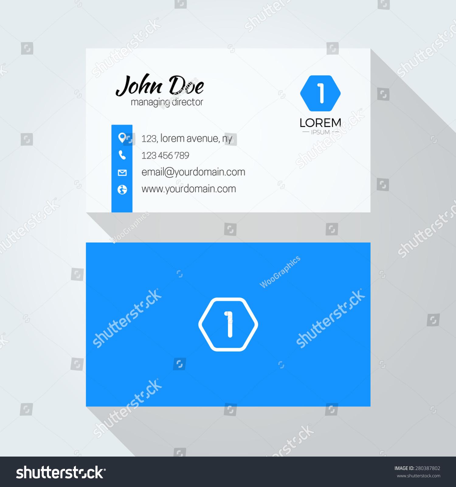 Letter Logo Minimal Business Card Stock Vector