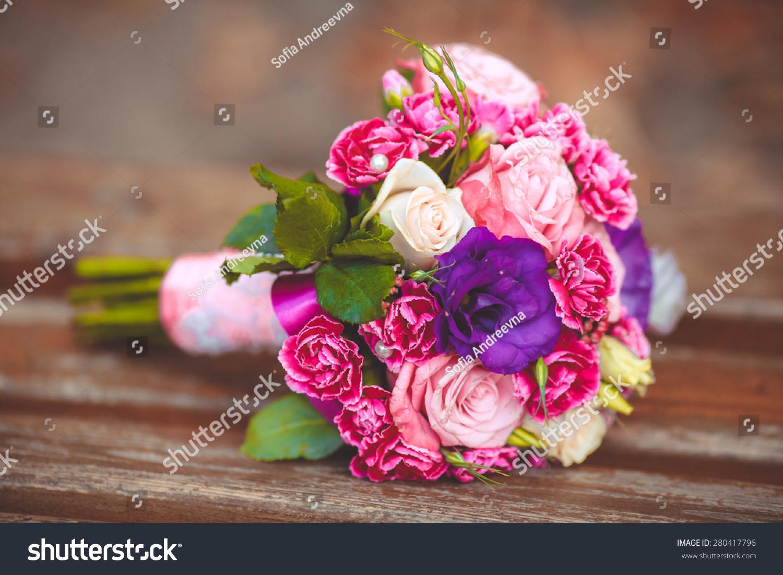 Wedding Flowers Bouquet Bride Marriage Stock Photo 280417796 ...