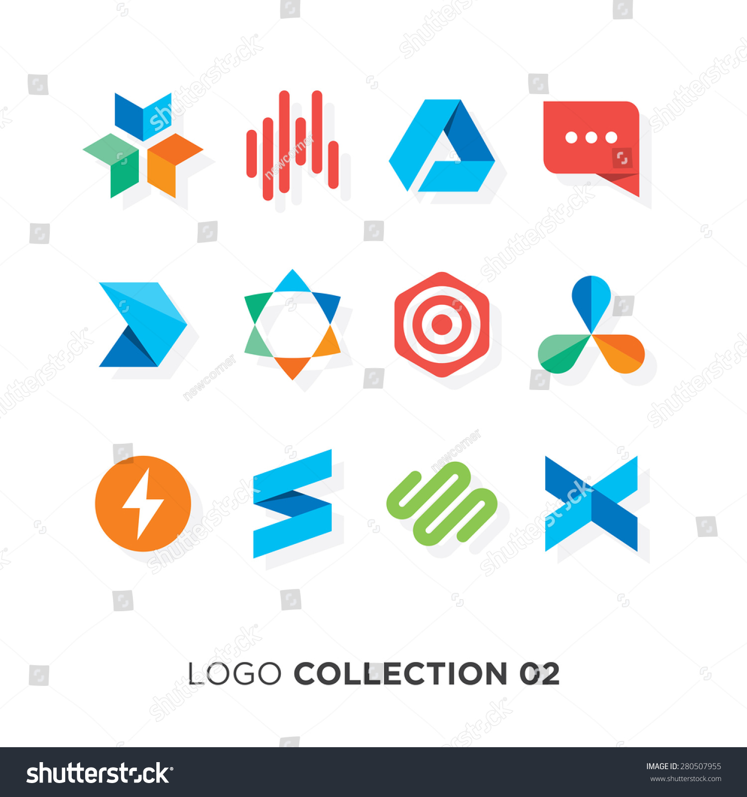 Vector graphic design business logo - Logo Collection 02 Vector Graphic Design Elements For Your Company Logo