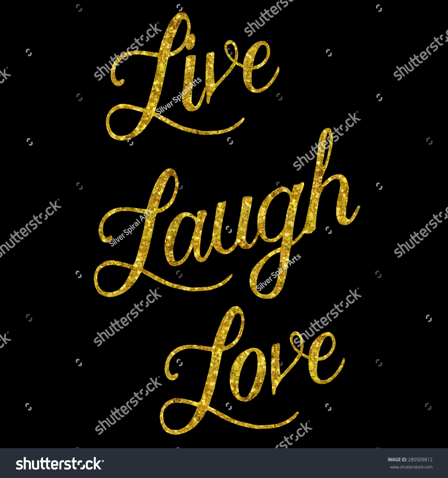 Live Gold Quotes Royaltyfree Glittery Gold Faux Foil Metallic… 280509812 Stock