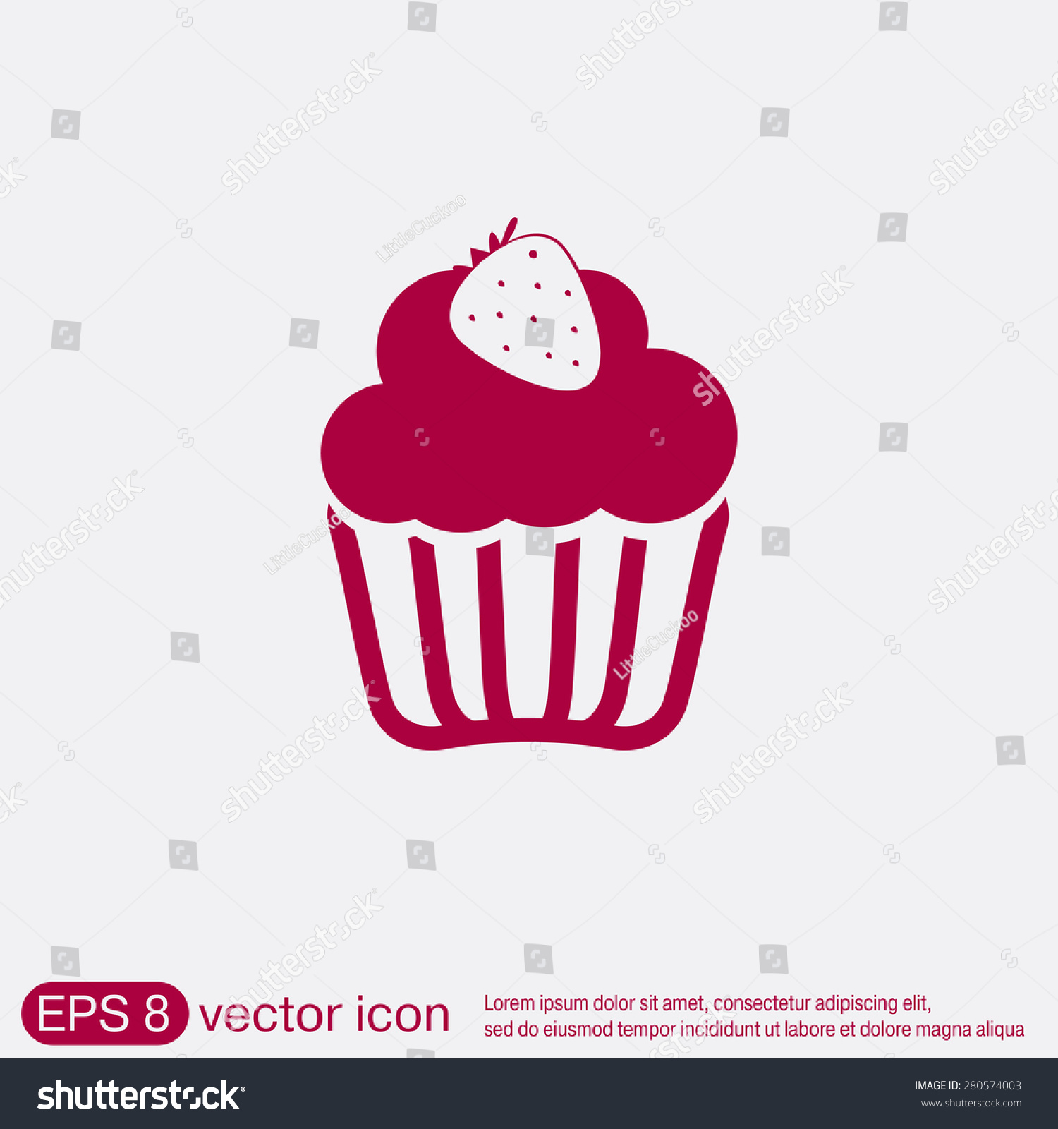 Birthday cake icon symbol cake celebrating stock vector 280574003 birthday cake icon symbol of cake celebrating the birthday of the loaf biocorpaavc