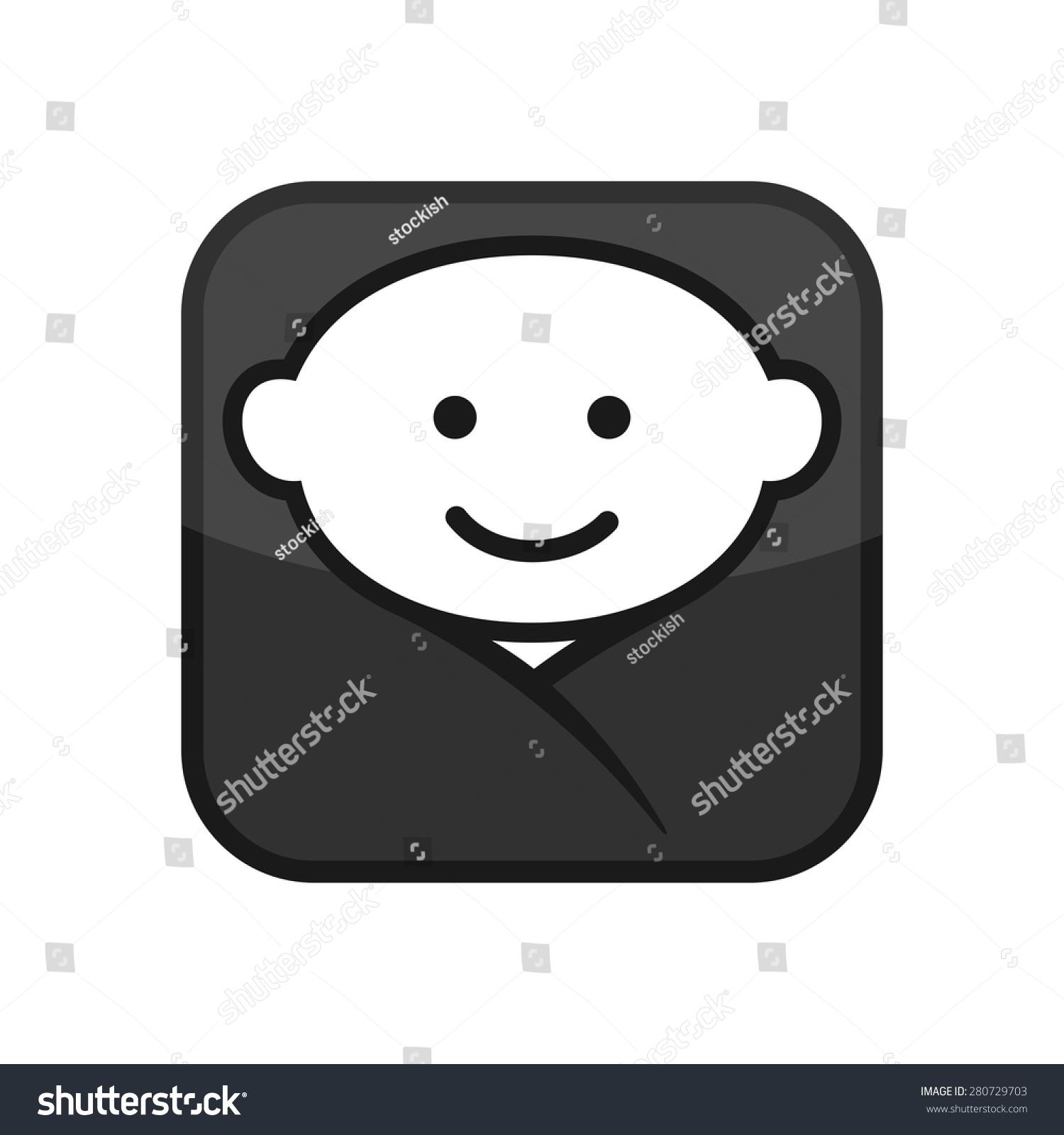 baby face apps icon vector logo stock vector royalty free