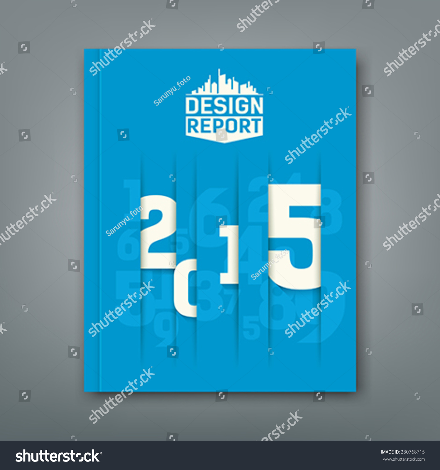 cover annual report numbers design stock vector  cover annual report numbers 2015 design on blue background vector illustration