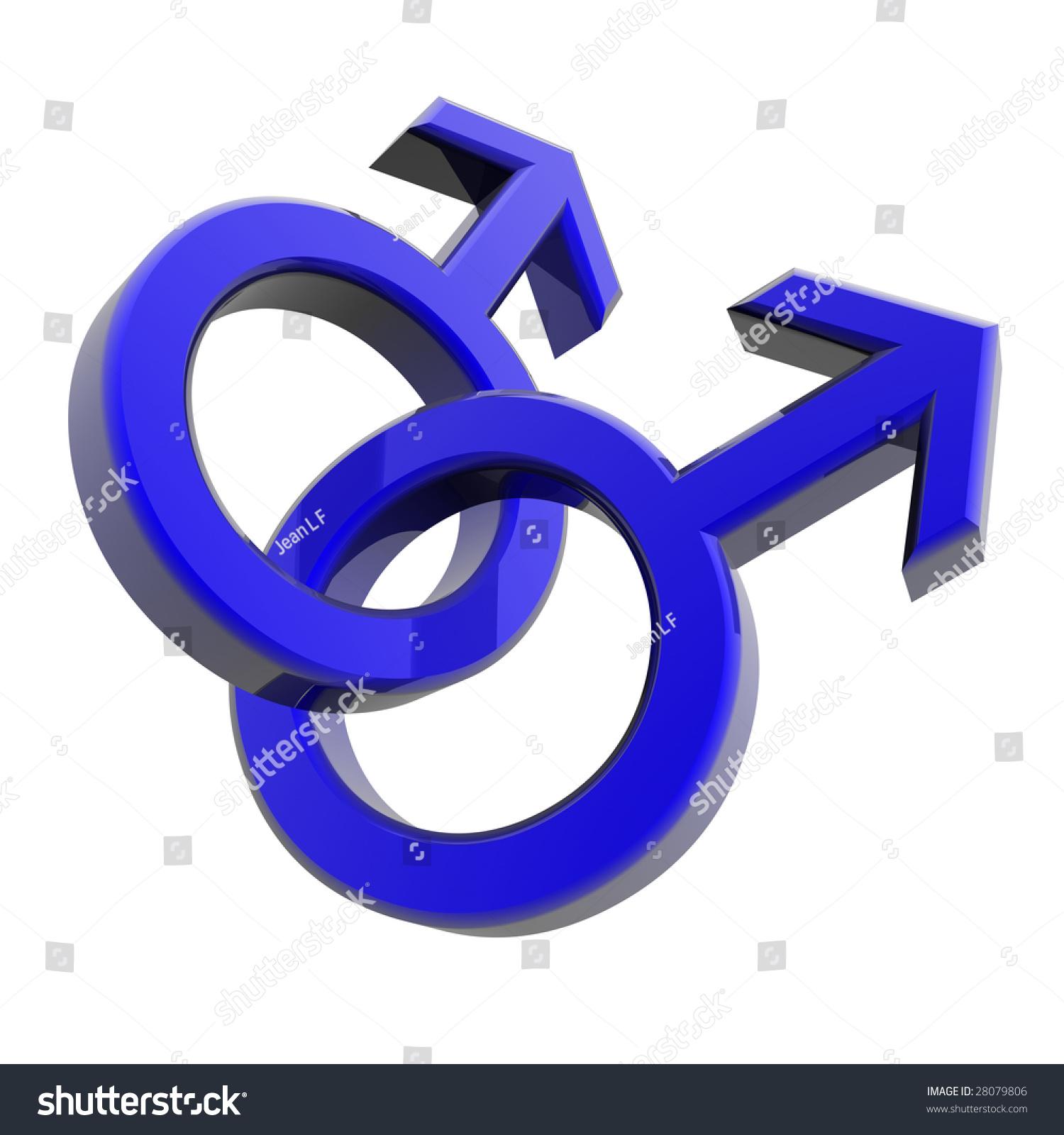 Double male symbol represents Gay men