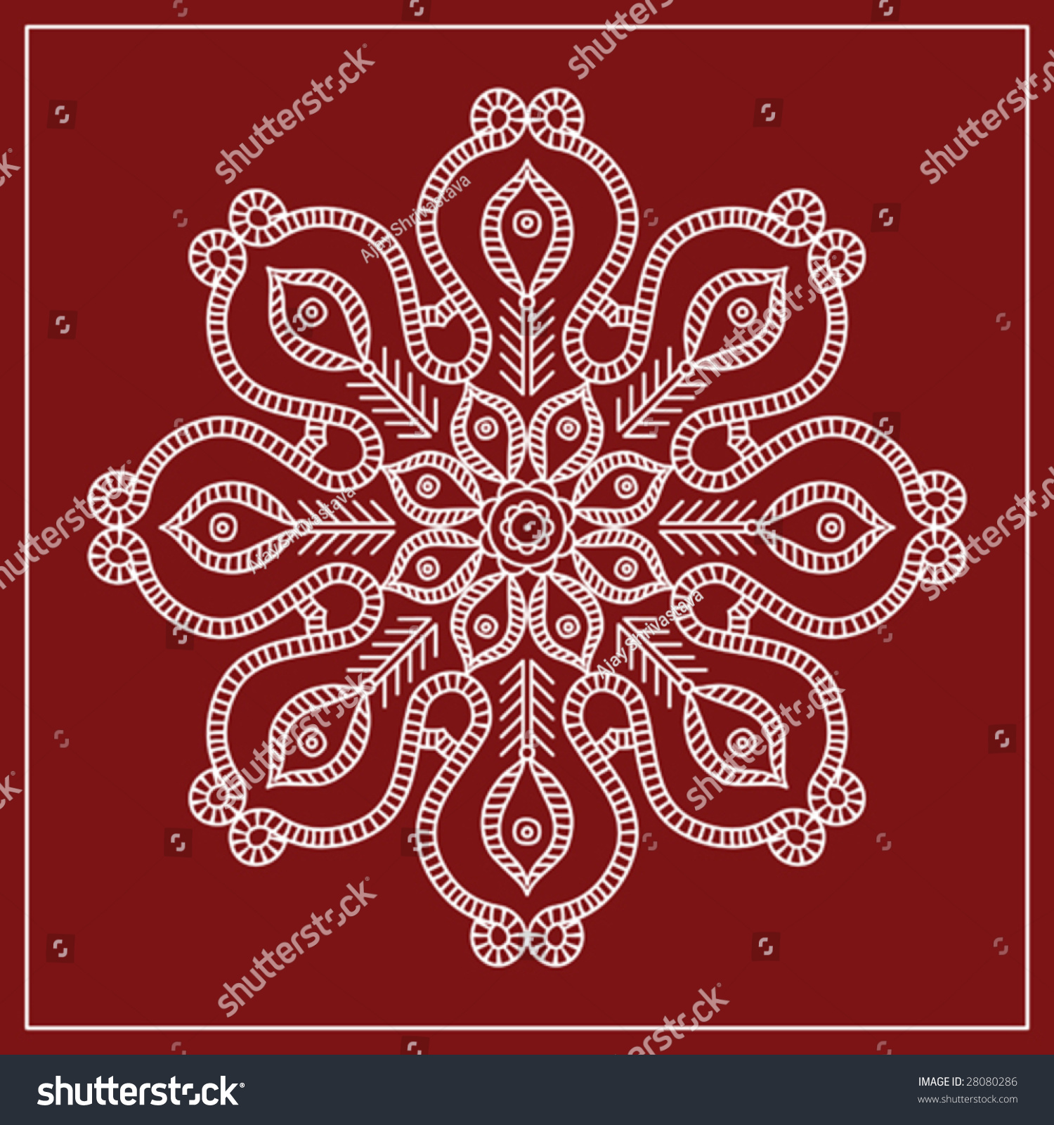 folk tribal designs motif wall painting stock vector illustration 28080286 shutterstock. Black Bedroom Furniture Sets. Home Design Ideas