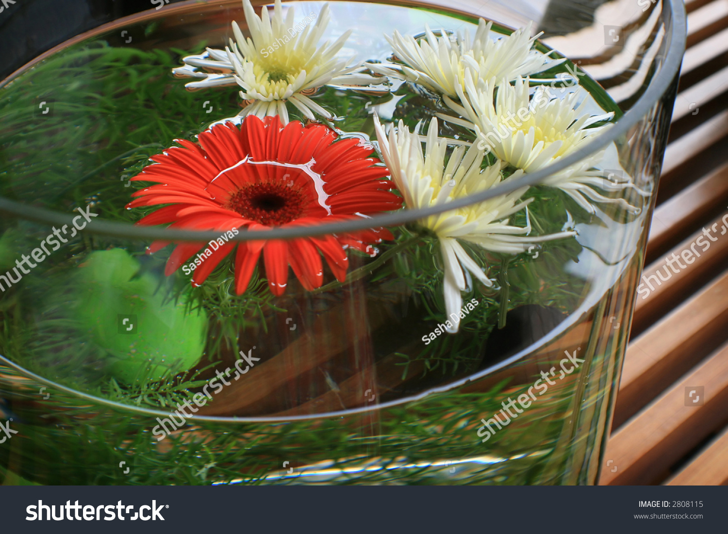 Flower vase with fish - Save To A Lightbox