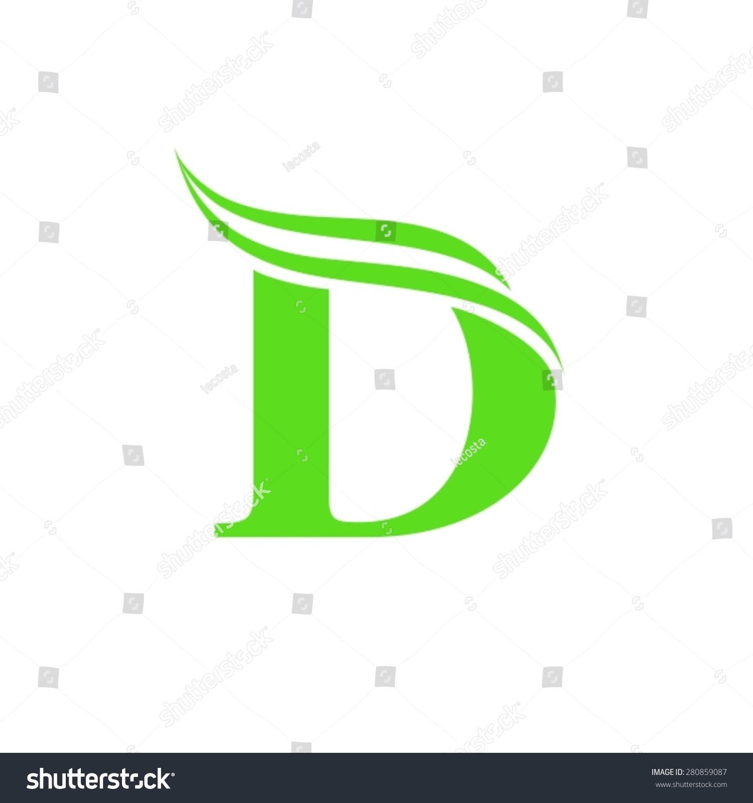 Stylish letter of d