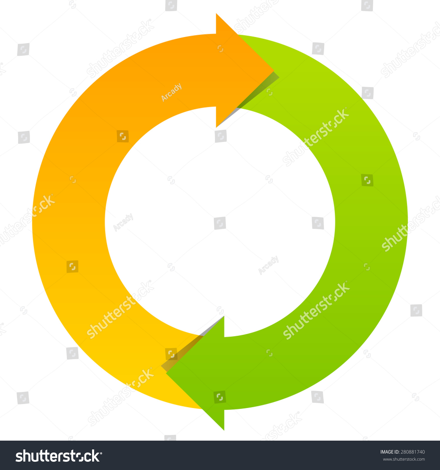 Two Part Cycle Diagram Stock Vector Illustration 280881740
