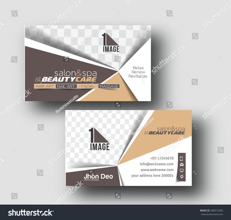 Beauty Salon Business Card Design Stock Photo (Photo, Vector ...