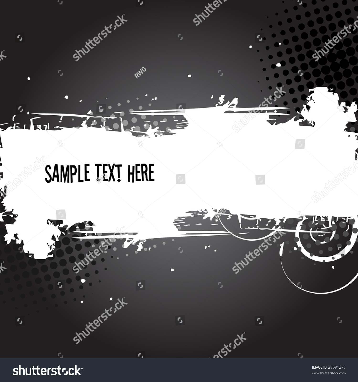 Grunge banner text space made white stock vector 28091278 for When was space made