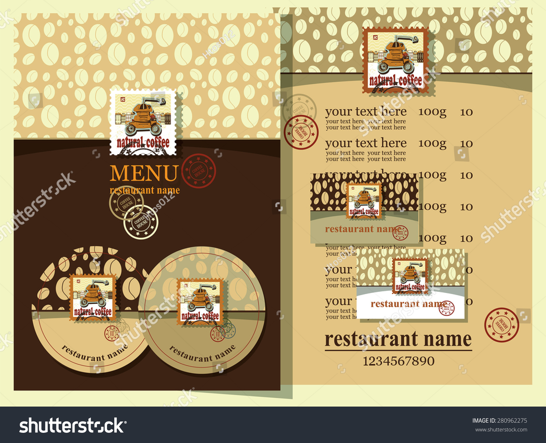 coffee house design set contains templates stock vector royalty