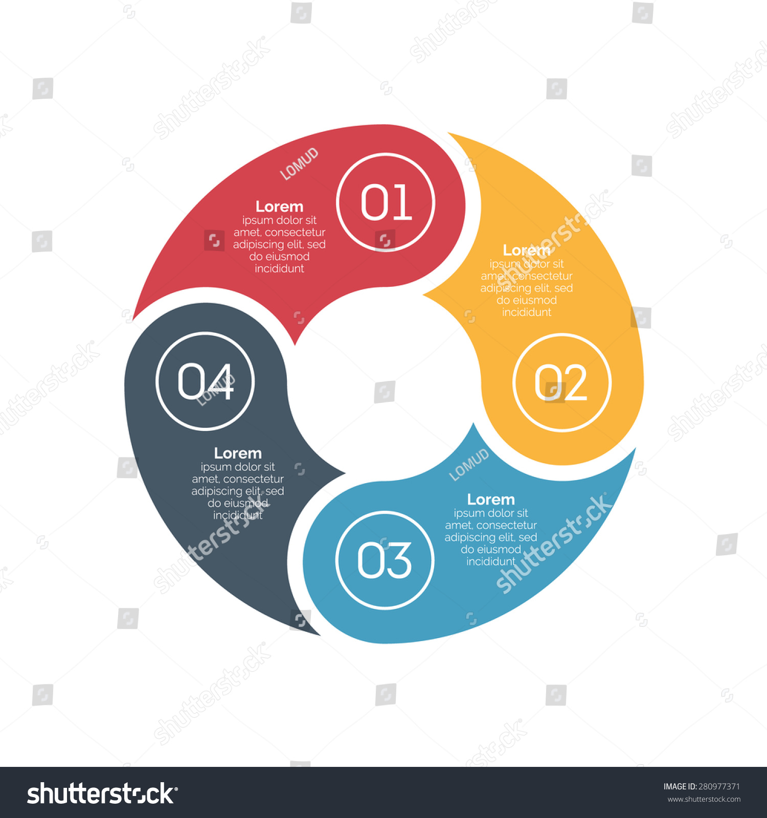 vector circle infographic design element template stock vector 280977371 shutterstock. Black Bedroom Furniture Sets. Home Design Ideas