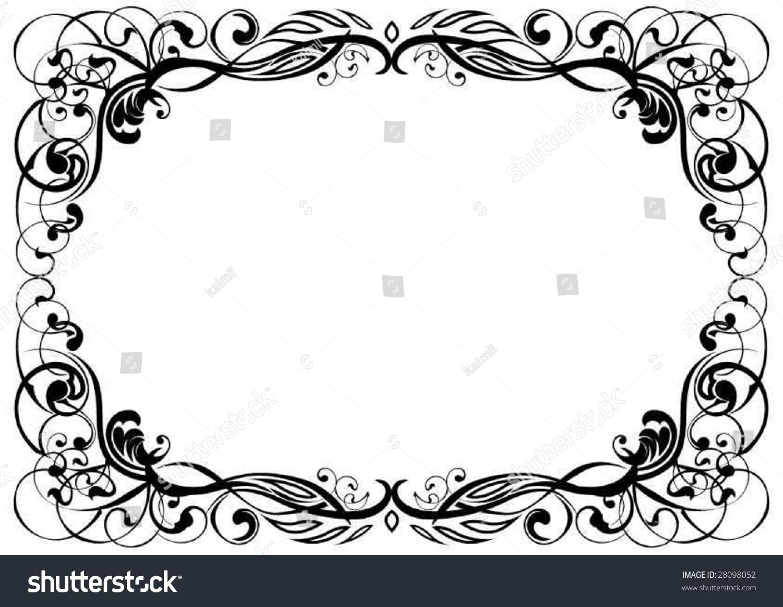 Ornament Frame Stock-Vektorgrafik 28098052 – Shutterstock