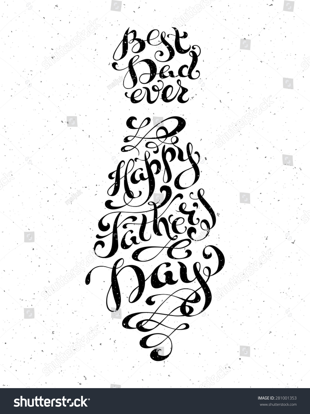 Best dad ever happy fathers day stock vector 281001353 shutterstock best dad ever happy fathers day vector isolated typographic design element for greeting cards kristyandbryce Choice Image
