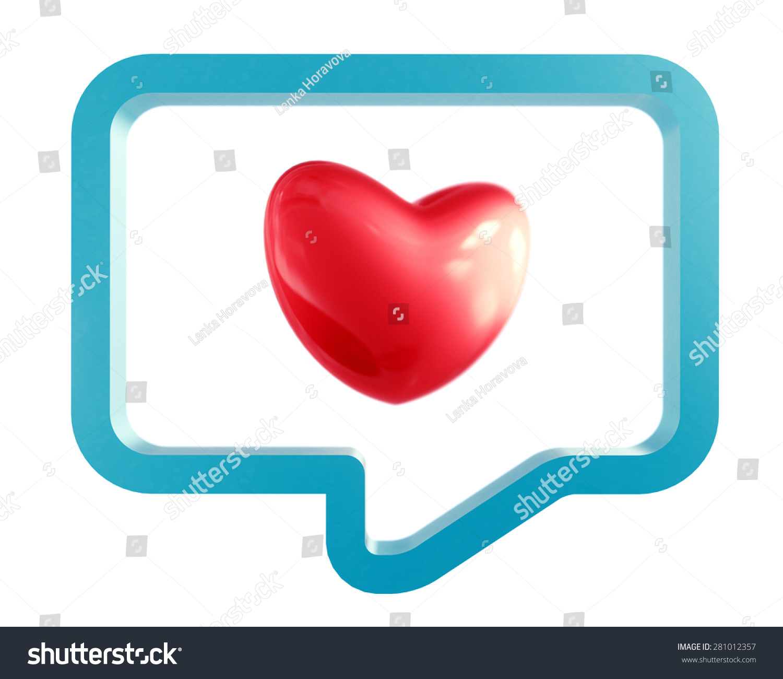 Ask Date Illustration Heart Symbol Chat Stock Illustration 281012357