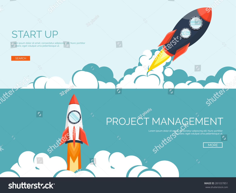 rocket ship flat stylevector illustration 3d stock vector
