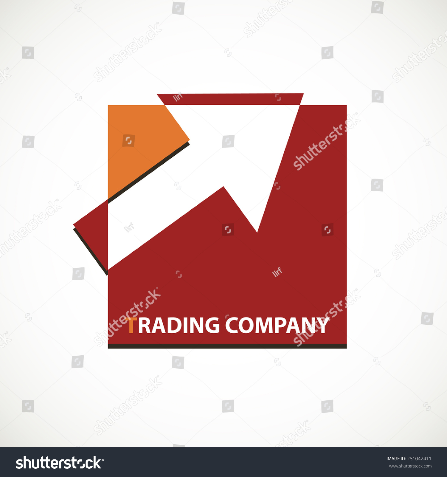 Trading Company Logo With Arrow On Square Concept Icon ...