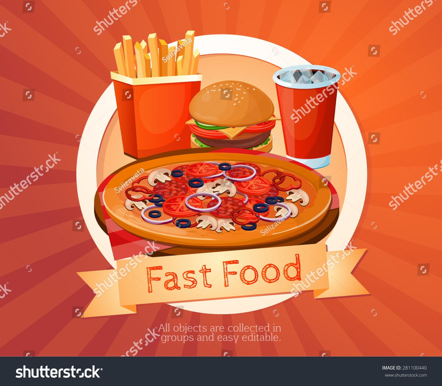 Fast Food Chain With American Flag Logo
