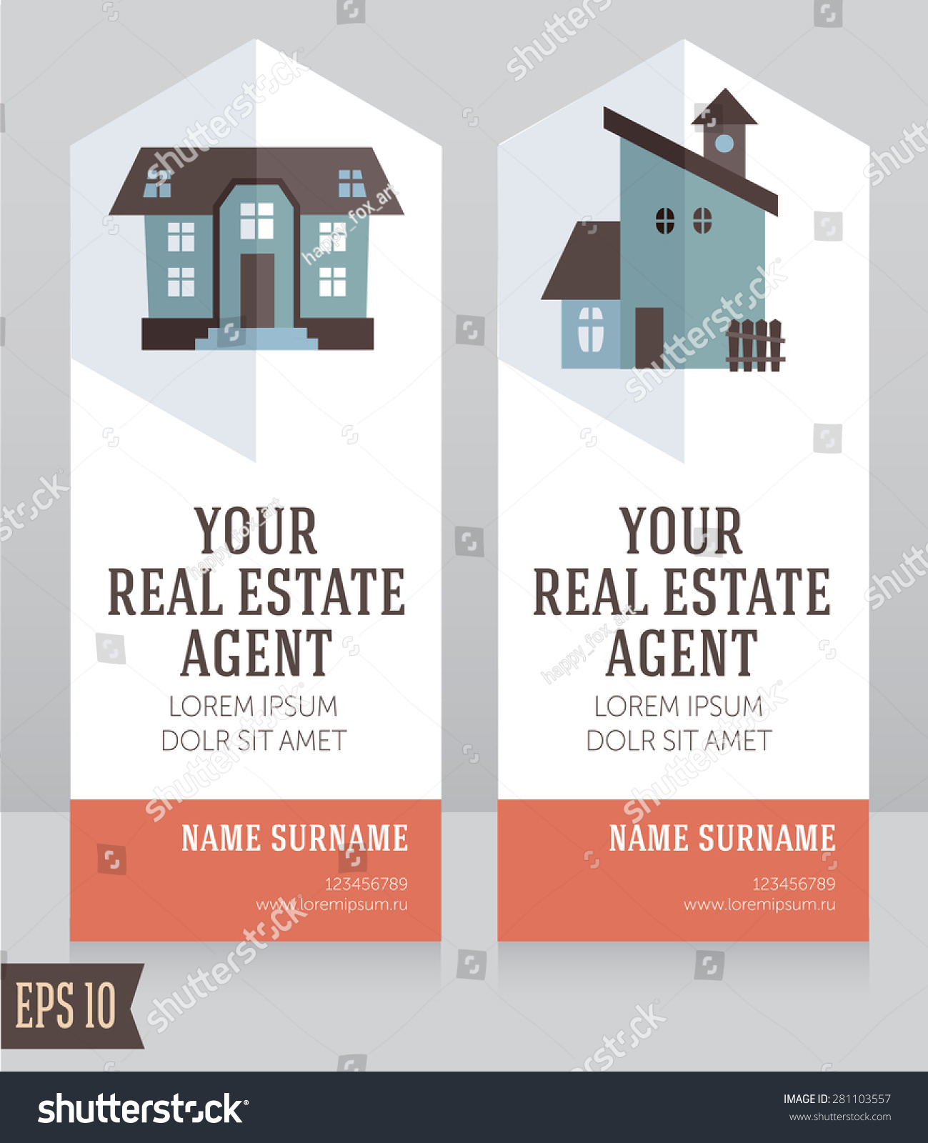 Real estate agent business card choice image free business cards design template real estate agent business stock vector 281103557 design template for real estate agent business magicingreecefo Gallery