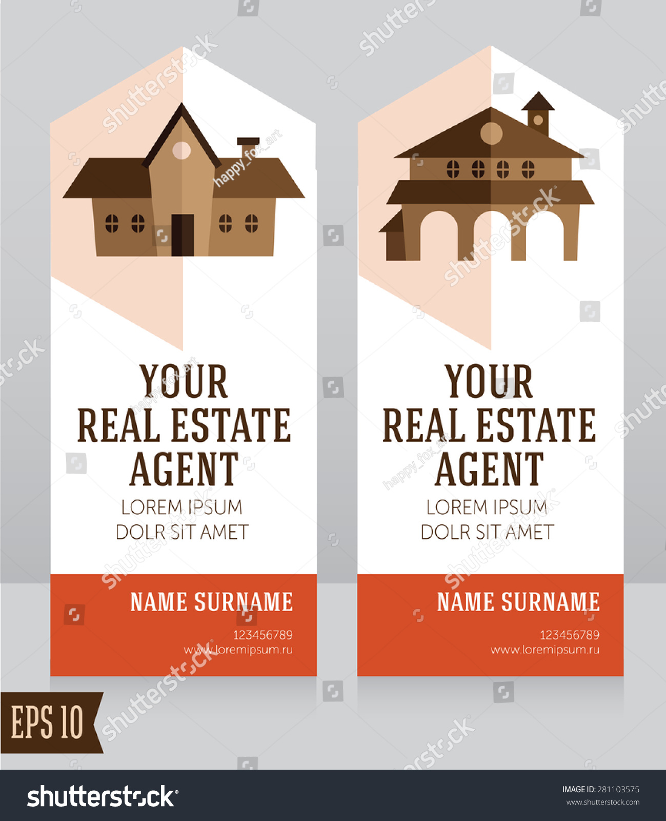 Design Template Real Estate Agent Business Stock Photo (Photo ...