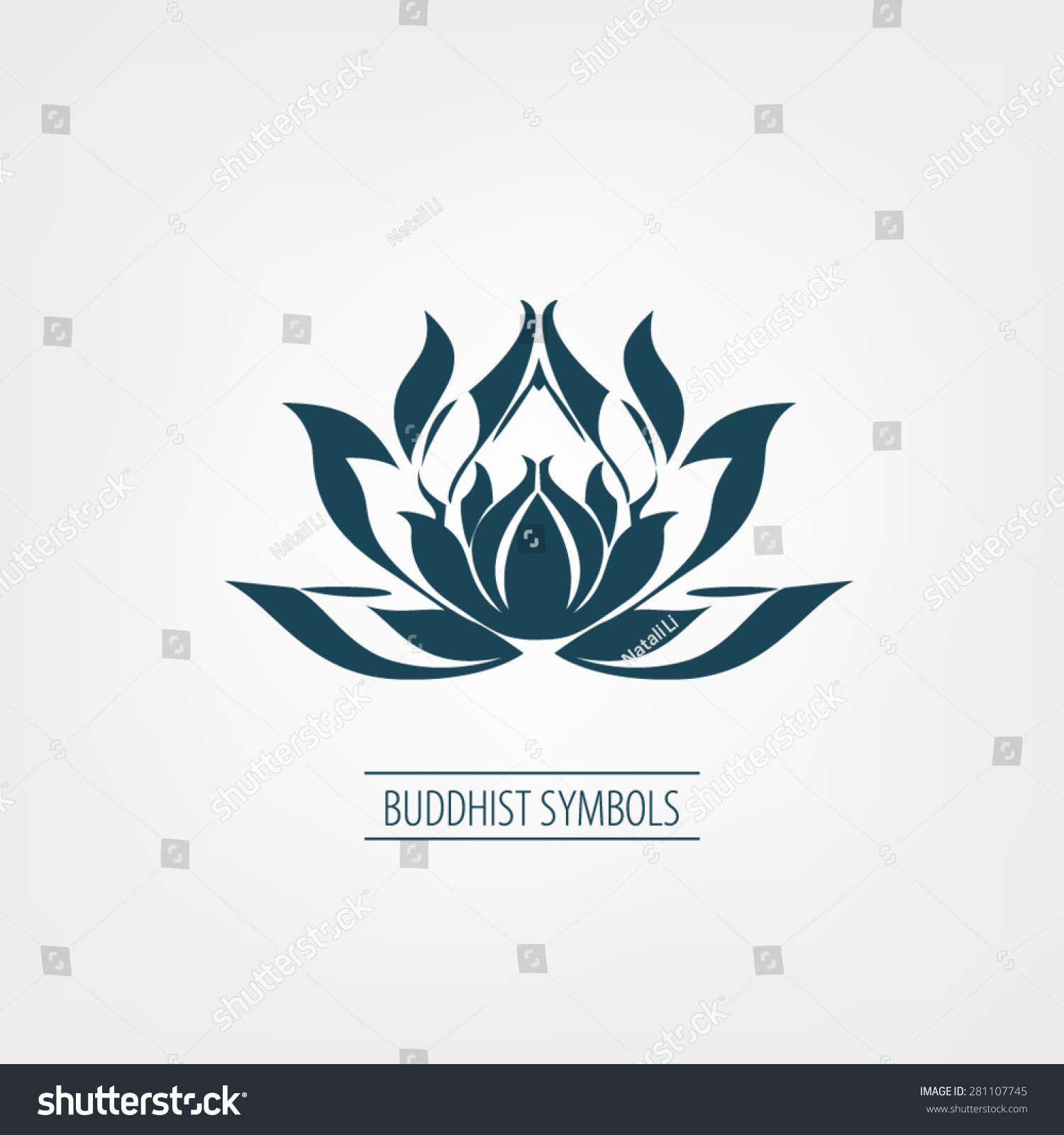 Buddhist Symbol Lotus Stock Vector Royalty Free 281107745