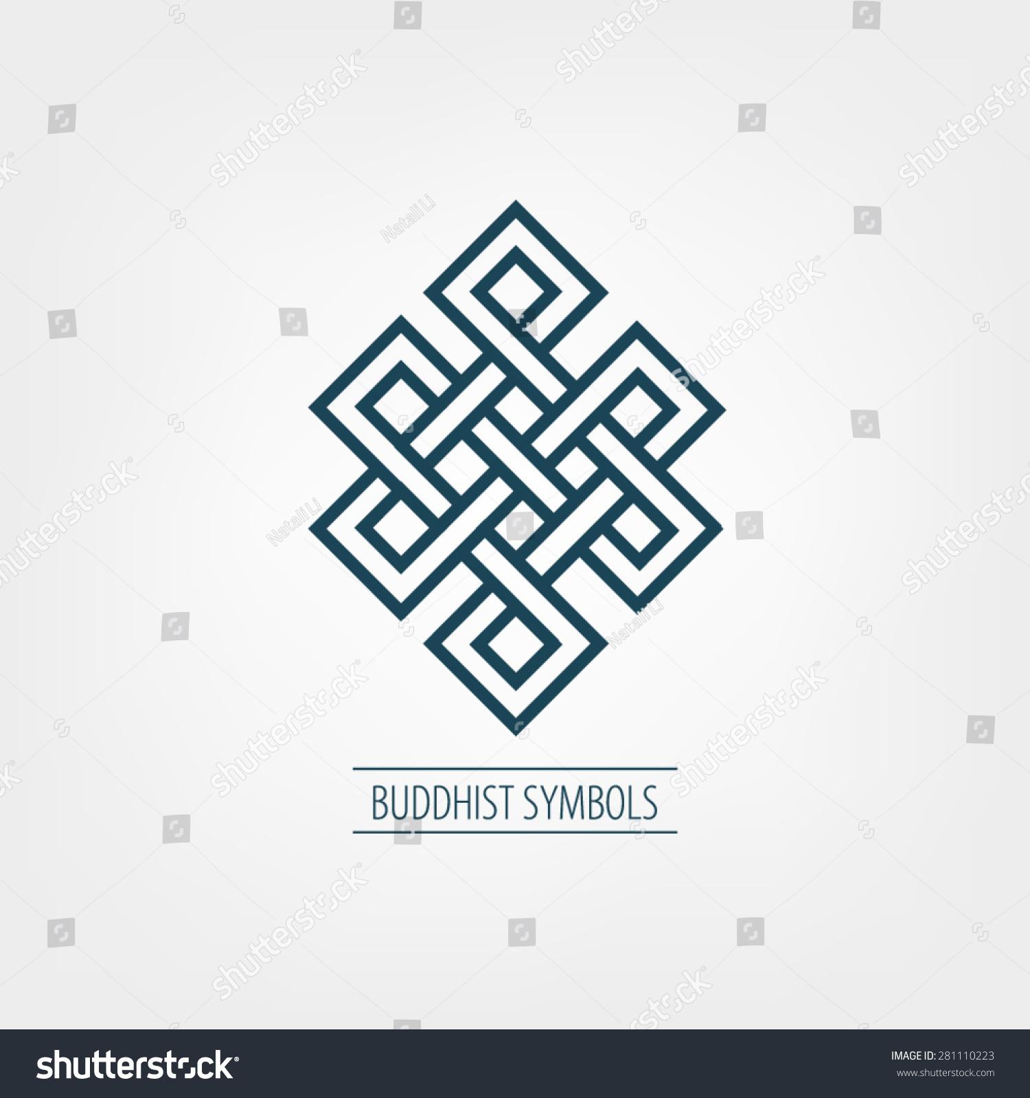 Oriental Symbol Happiness Buddhist Stock Vector 281110223 Shutterstock