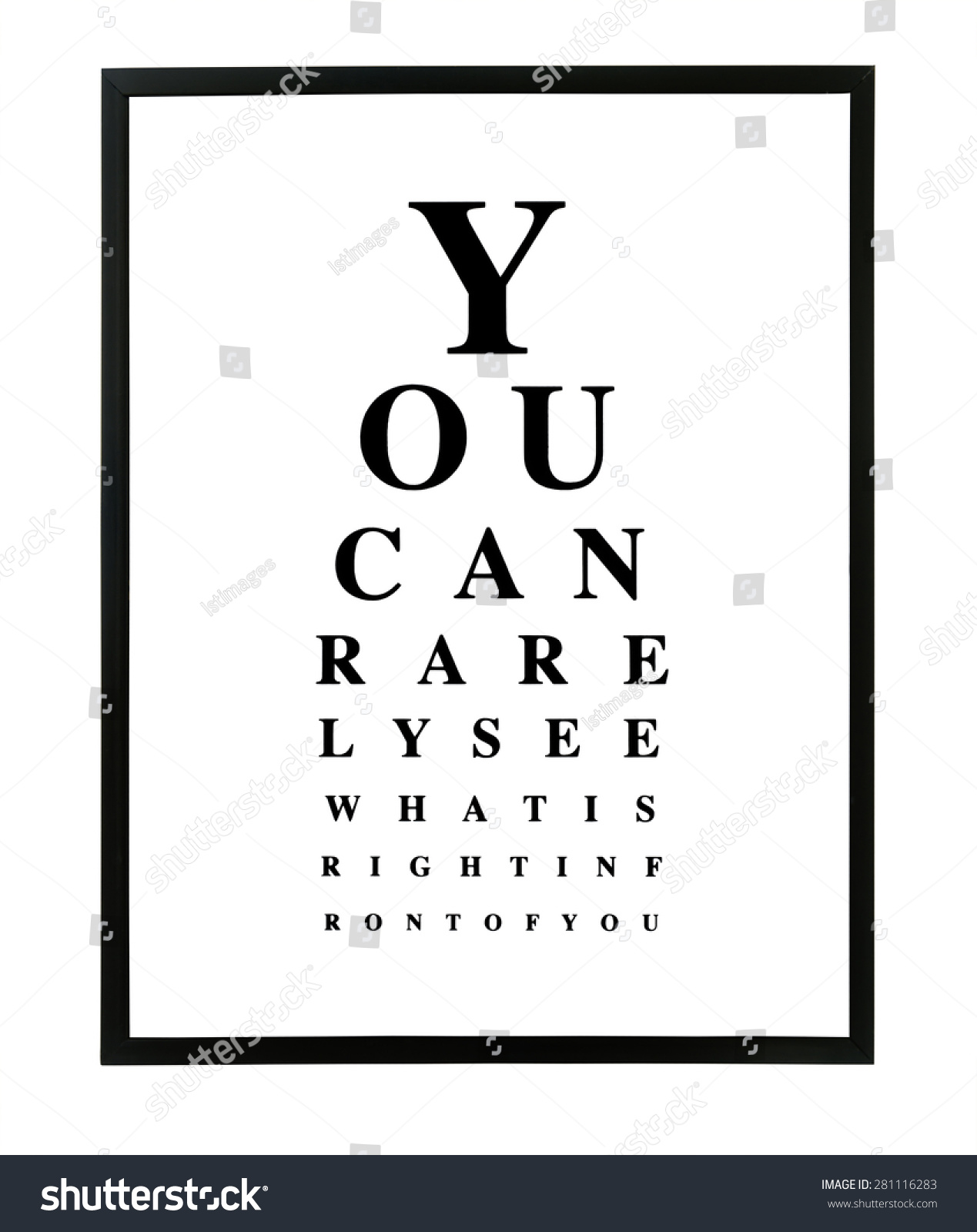 Funny eye test chart different sized stock illustration 281116283 funny eye test chart with different sized letters white background with black letters chart nvjuhfo Images