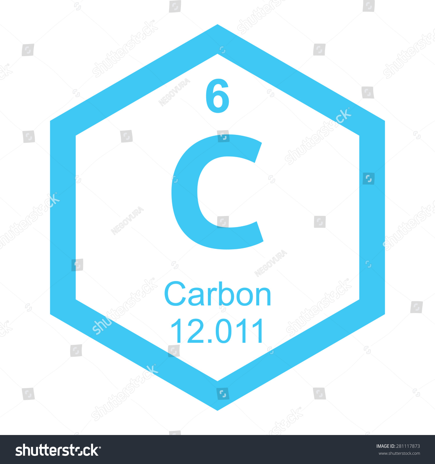 Periodic table carbon stock vector 281117873 shutterstock periodic table carbon gamestrikefo Gallery