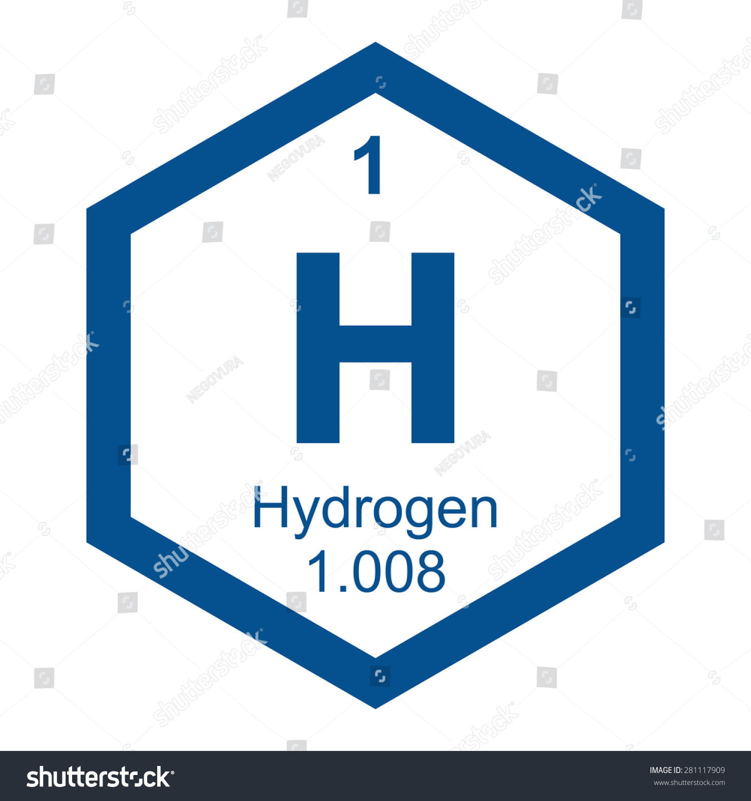 Periodic table hydrogen stock vector 281117909 shutterstock periodic table hydrogen gamestrikefo Choice Image